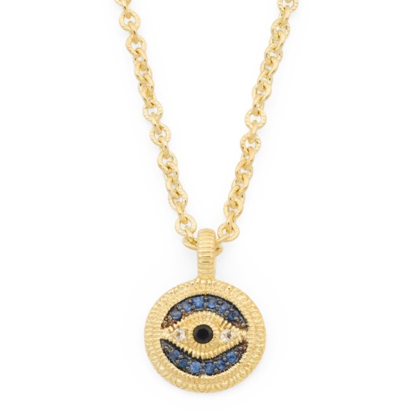 5e79fbce3 Judith Ripka 14K Sapphire Evil Eye Necklace NWT. M_5b296ba3c89e1d66bc54909a